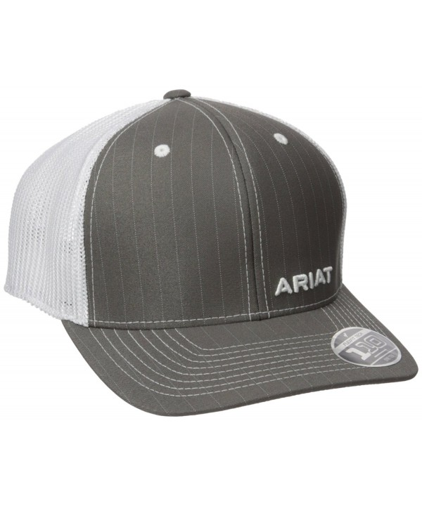 Ariat Men's Gray Pinstripe Corner Brand - Gray - CL12GKF36Q5