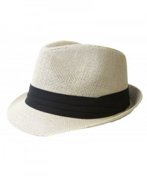 The Hatter Co. Tweed Classic Cuban Style Fedora Fashion Cap Hat - Ivory - CL112X0GIFN