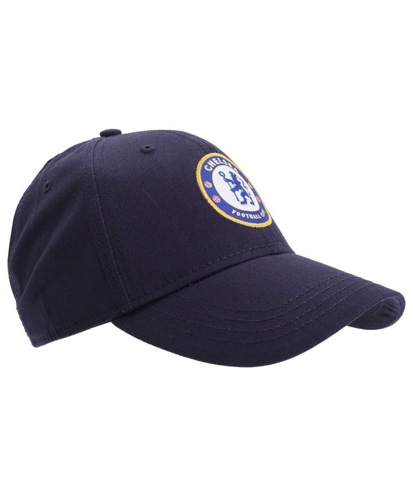 Chelsea FC Unisex Official Football Crest Baseball Cap - Navy Blue - CO11VSR9593
