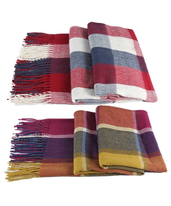 Blanket Winter Classic Infinity Scarves - Plaid Scarf - C91897GMRKW