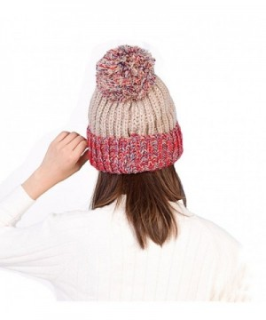 Smilelve Womens Beanie Rainbow Cashmere in Women's Skullies & Beanies
