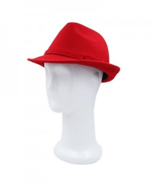 Womens Deluxe Solid Color Fedora