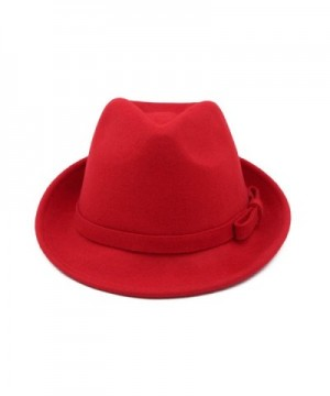 Womens Deluxe Solid Color Fedora in Women's Fedoras