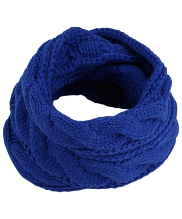 JOYEBUY Women Lady Thick Wool Knit Scarf Warm Winter Infinity Circle Loop Scarf Valentine Gift - Royal Blue - CE187KD8Q3U