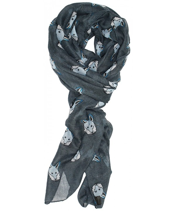 Ted and Jack - Fox Hunt Stylish Print Fall Scarf - Slate Blue - CW126GAM2AX