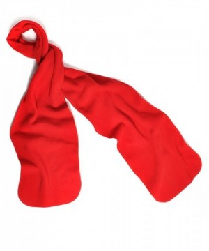 Nollia Solid Color Fleece Unisex Winter Scarf (Red - CN11QIQTYOP