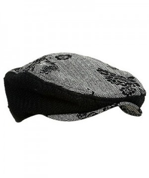 UBI NYH Embroidered Herringbone Hat Black
