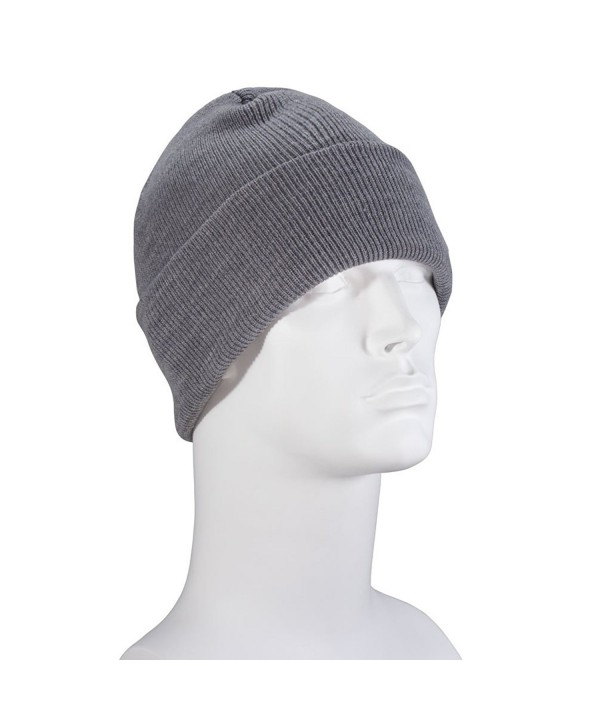 USA Made Classic Ski Hat - Light Grey - CL187ITMCSG