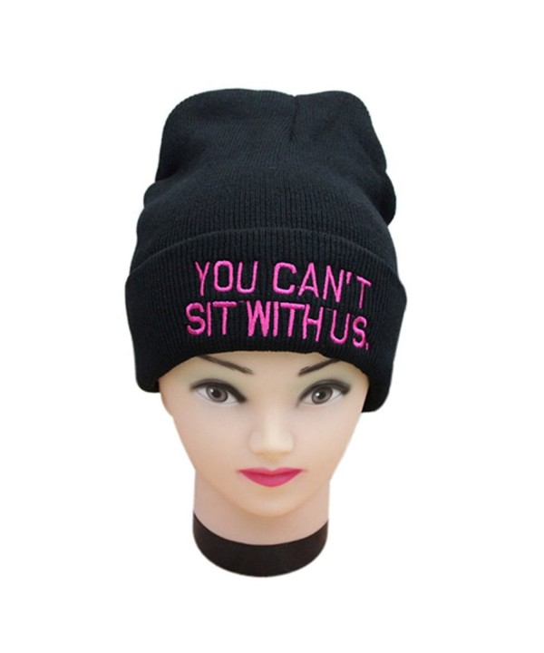 AStorePlus Embroidered Weirdo Beanie Winter - Black & Pink - CR12OCT0DSD