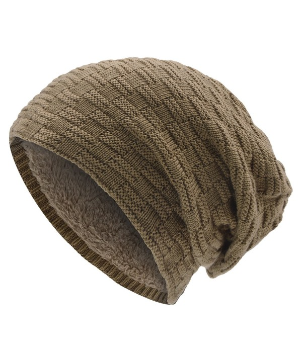 UPhitnis Warm Winter Hats Women - Khaki - C6186OZDTCW