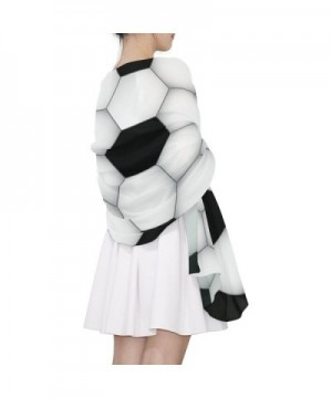 DEYYA Soccer Texture Print Lightweight in Cold Weather Scarves & Wraps