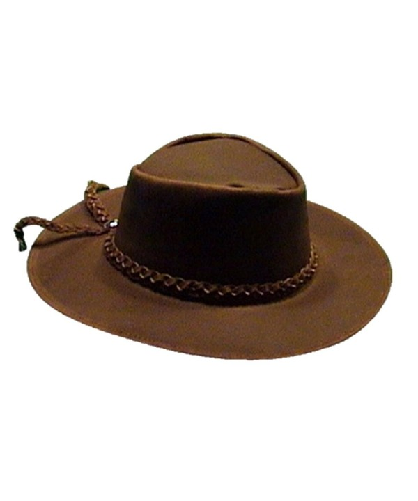 Sharpshooter Clint Eastwood Good Bad Ugly Brown Leather Cowboy Hat - Brown - C811O4EL3D3