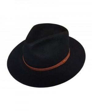 Crush able Outback Leather Safari Fedora in Men's Fedoras