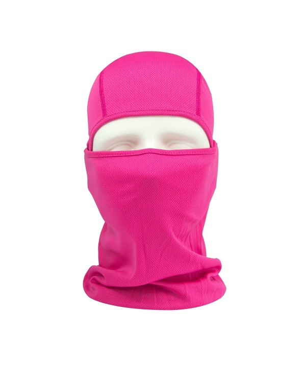 Balaclava Face Mask- HikeValley Adjustable Motorcycle Windproof UV Protection Breathable Unisex Hood Mask - Rose - C218624G6KQ