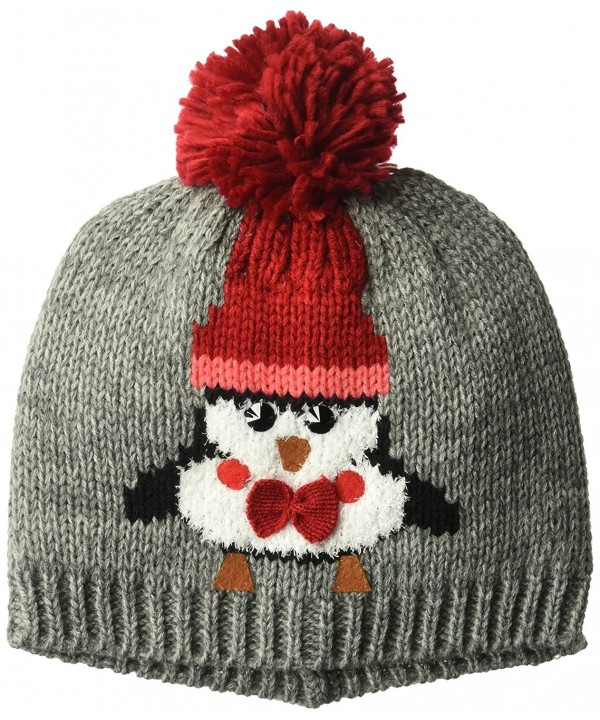 D&Y Women's Penguin Beanie Hat- Grey- One Size - CQ186ESQLNA