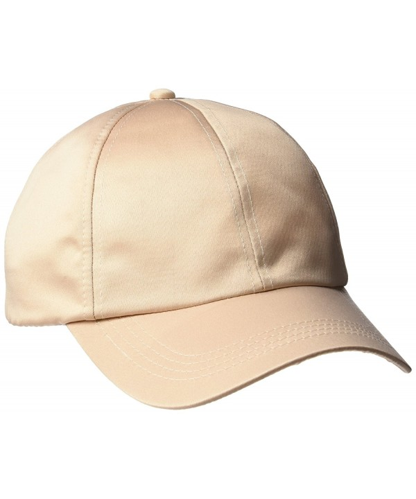 D&Y Women's Satin Baseball Cap - Beige - CD12NYU818C