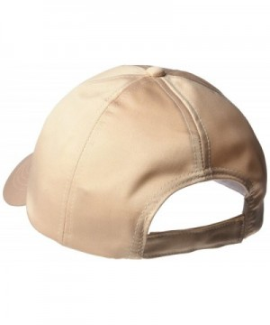 Womens Solid Satin Baseball Beige