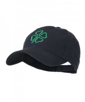 4 Leaf Clover Holiday Embroidered Cap - Navy - CN11FDE621V