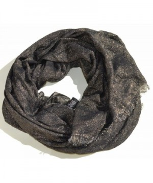 Style & Co. Women's Metallic Frayed Wrap Scarf - Gold / Black - CP126ZVGNGT