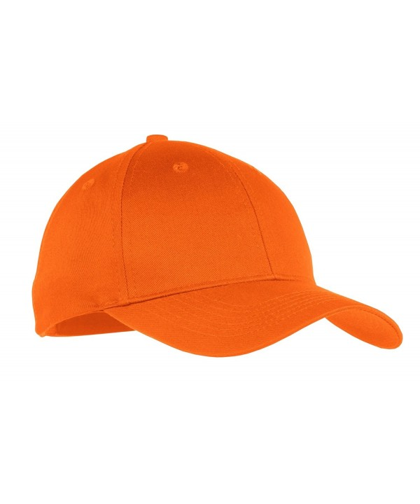 Port & Company Boys' Six Panel Twill Cap - Orange - C2119B8IOU7