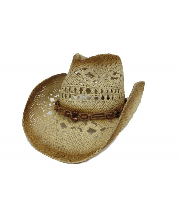Great Deals! Western Tea Stain Hat / Fancy Style with Beads - C6113ZD5S67