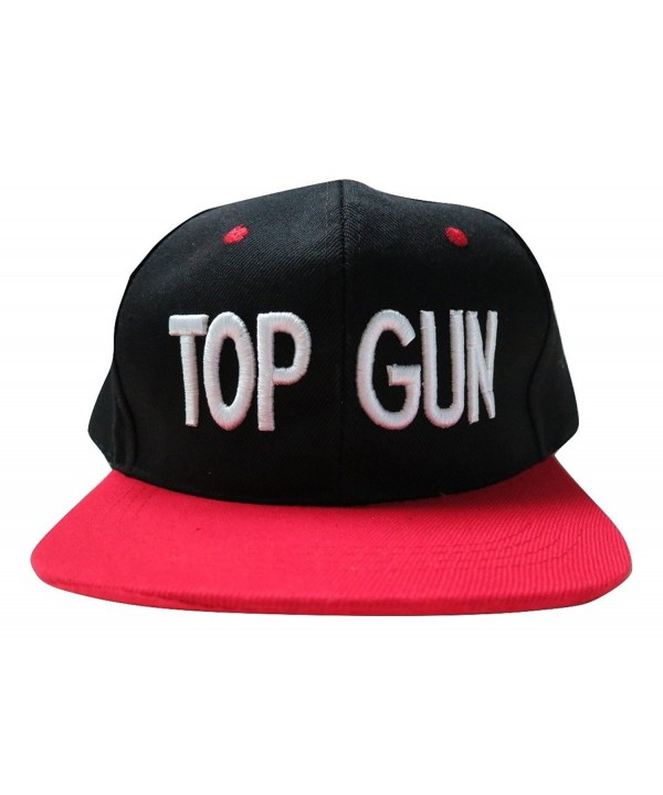 Top Gun Adjustable Snapback Flat Bill Hat Baseball Cap - C317YXONDC0