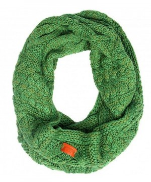 Aran Traditions Emerald Green Cable Knit Snood - C912IG3FP27