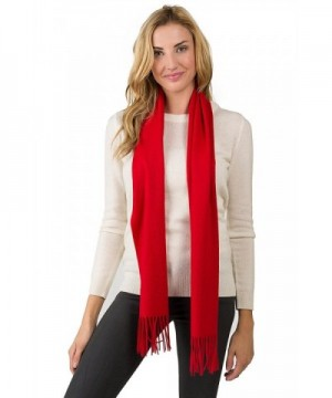 JENNIE LIU Unisex Watermark Cashmere Woven Scarf - Red - C311I01FVGV