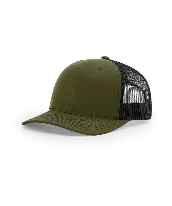 Richardson 112 Trucker Snapback Cap - Loden/ Black - CR126W7FOO3