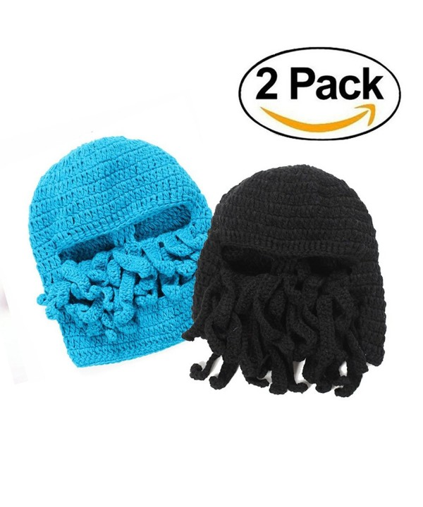 WindGoal Unisex Octopus Barbarian Beanie - Black+blue - CS1864ERZRZ