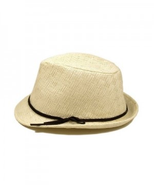 Young Adult Teens White Fedora in Men's Fedoras