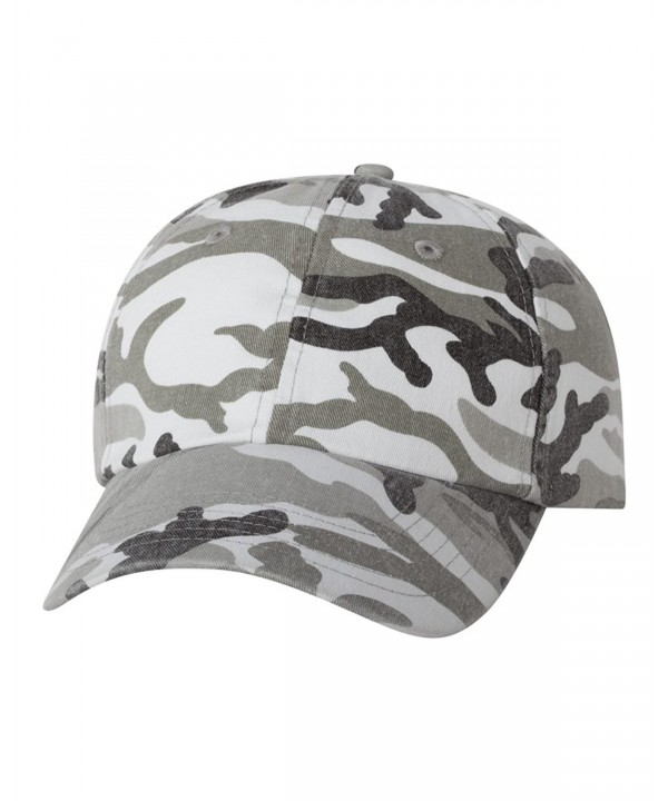 Camouflage Cotton Twill Adjustable Baseball Caps in 5 Colors - Grey Camo - C811Y1H3TI5