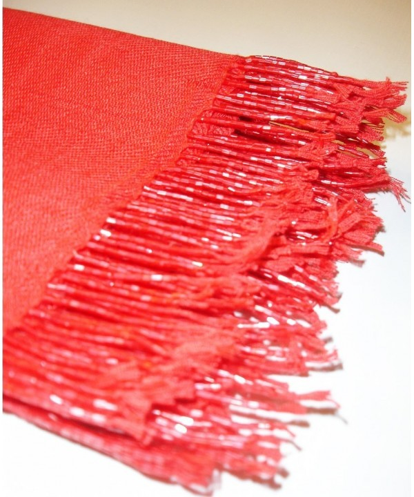 Pashmina Scarf Shawl Wrap Throw Red - C91130YKK1J
