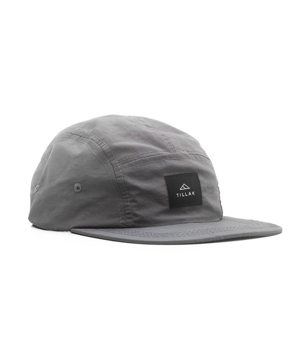 Tillak Wallowa Camp Hat- Lightweight Nylon 5 Panel Cap With Snap Closure - Basalt Grey - CQ18579EQMH