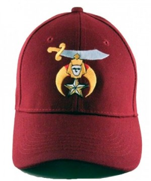 Shriner Baseball Shriners Hat Masonic Mens One Size Maroon - CW11VT9BPS9