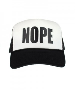 Mens NOPE Ironic Funny Slogan Hipster Snap Back Cap Cotton Mesh Trucker Hat - CY11S68B5A3