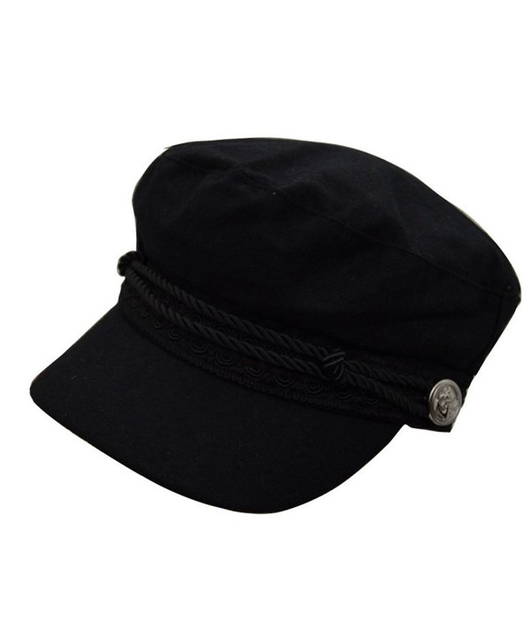 REGITWOW Women's Warm Wool newsboy Cabbie Cap Painter Cap Hats With Visor - Black - CH12O1BX01P