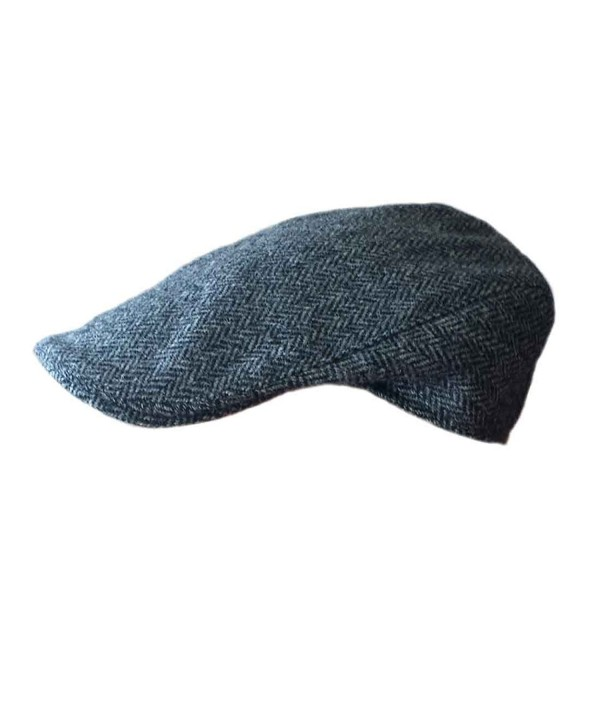 Carrolls Irish Gifts Donegal Touring Tweed Flat Cap- Dark Grey Colour - CF126XSRZA1