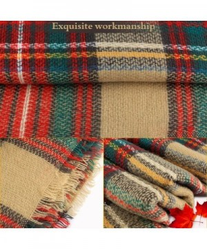 AOFU Winter Blanket Classic Tassel in Cold Weather Scarves & Wraps