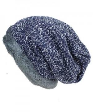 JAKY Global Women Winter Warm Knit Beanie Hat Fleece Lined Wool Snow Ski Caps Outdoor Sport - Navy - CN12N1629X2