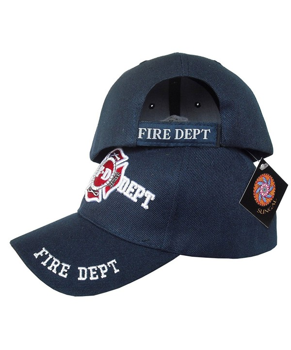 Fire Department- Fireman Officer Gear- Uniform Baseball Cap Hat w/ Free Hat Pin - Navy - CG17YCG8L29