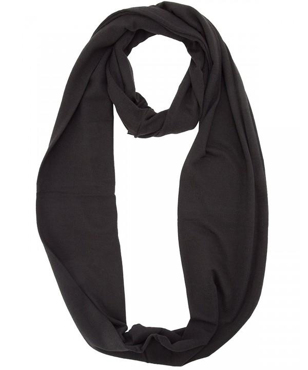 Infinity Solid Loop Scarf - Black - C311I8K6WY9