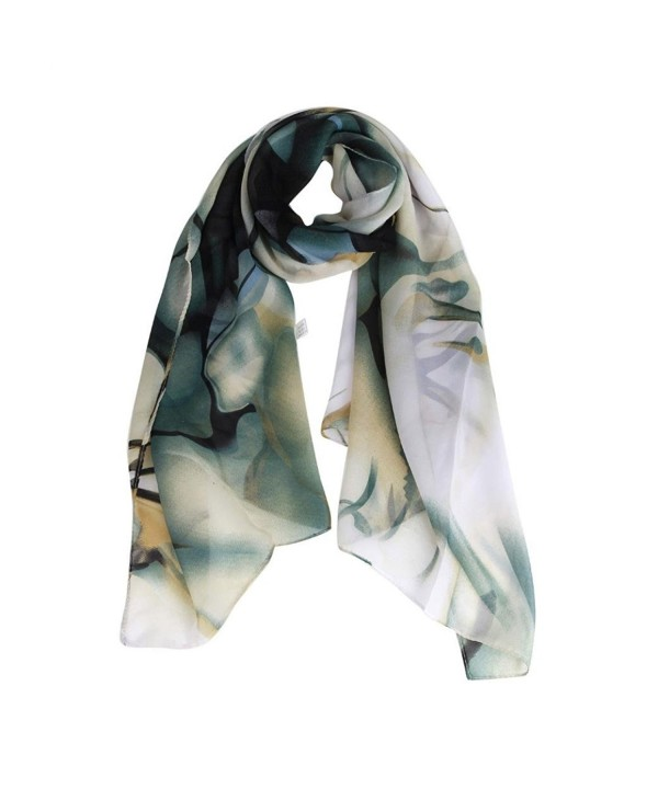 TOPUNDER Fashion Lady Long Wrap Women's Shawl Chiffon Scarf Scarves - Blue - CB12L2550WB