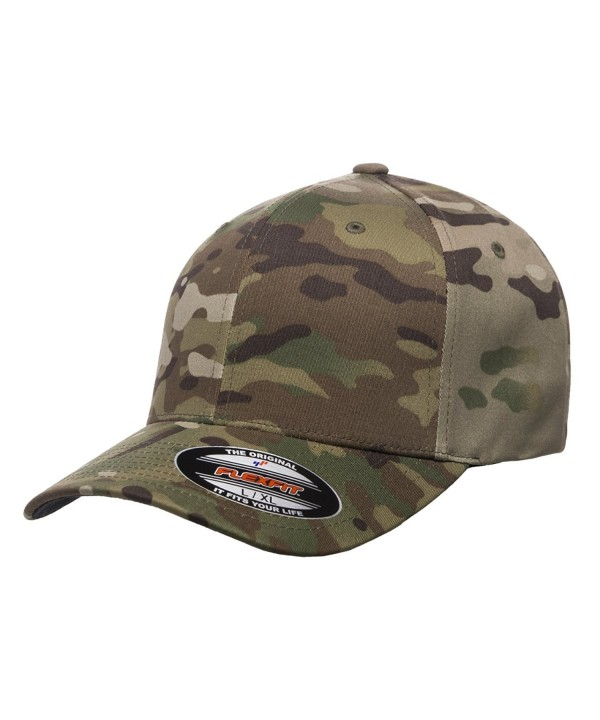 Flexfit Multicam Camo 6 Panel Baseball Cap Officially Licensed Multi-Cam Pattern - Multicam - CE187X44EL7