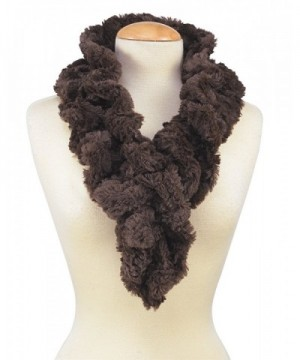 Womens Faux Fur Scarf Scrunchie