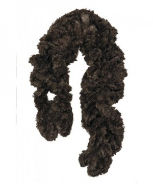 Womens Faux Fur Scarf Scrunchie in Fashion Scarves