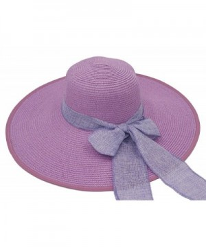 Roffatide Womens Foldable Bowknot Floppy in Women's Sun Hats
