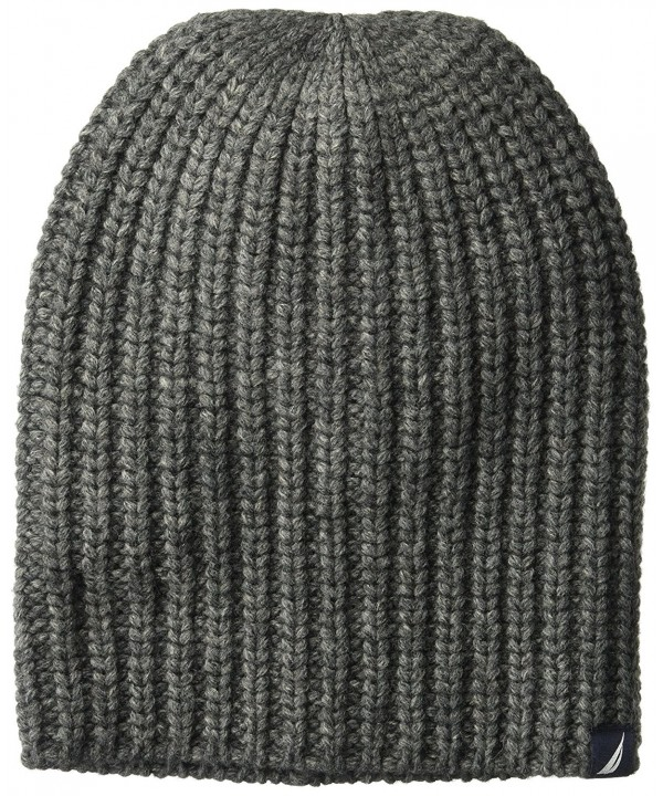 Nautica Men's Cardi Stitch Hat - Granite Heather - C8186NX8G8G