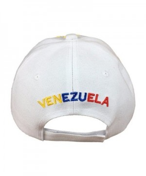 White Baseball Tricolor Stars Venezuela in Men's Baseball Caps