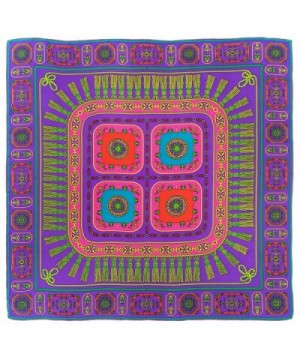 Ayli Women's Abstract Pattern Mulberry Silk Twill Square Scarf Various Style - Pattern 4 - CA1282KRI15